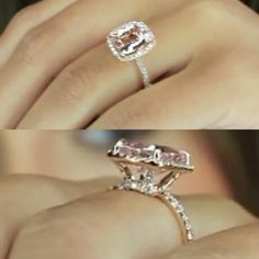 14k Rose Gold Morganite Engagement ring 3 carats  I'm in love with this ring. I finally found the ring of my dreams.