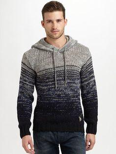 Diesel - Melange Hooded Sweater #MENSSWEATERS