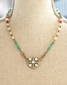 This women repurposes vintage jewelry and rosaries.  Sells on etsy.  SUPPORT SMALL BUSINESSES like this.