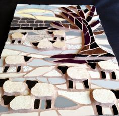 Felicity Ball mosaics: The making of my mosaic, 'Sheep in Winter'.