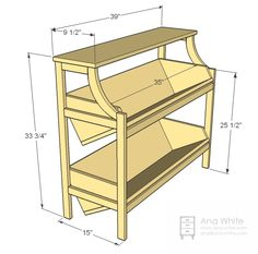 Library Console Table - plan by ana-white.com