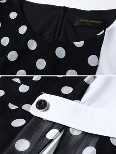 Polka Dot O-Neck Sleeveless Slit Skater Dress – DressSure Bodycon Dress With Sleeves, Long Sleeve Maxi, Tango Dress, Lace Homecoming Dresses, Dress Patterns, Sewing Patterns, Fashion Outfits, Dress Fashion, Ladies Dress Design