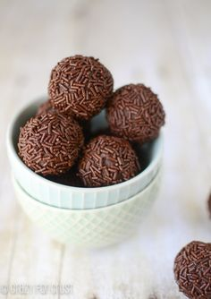 Chocolate Avocado Truffles by crazyforcrust.com   Just as rich and indulgent as a regular truffle, with less fat and calories!