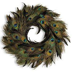 diy peacock feather wreath | Do-It-Yourself Supplies: Peacock Feathers