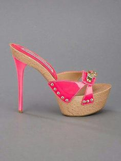 Pink High Heels clogs