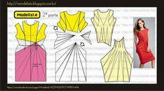 ورايات ModelistA DRAPEADO البشر رايات الملابس منذ تم تسجيلها التاريخ. أنواع مختلفة من الستائر تقدم تبدو مختلفة، ولكل مناسبة للأحداث ودرجة من الأناقة مختلفة. يتم إنشاء فوا لمعالجة النسيج، وكيفية عقد في مكان مع شريط أو إغلاق وانخفاض في بلد آخر، وخلق طيات والمفاصل وطبقات من القماش. في صناعة الأزياء، ويتم اللف من قبل المنتج من قوالب أو مصمم، لخلق نظرة المرجوة: Sewing Patterns Free, Clothing Patterns, Dress Patterns, Fashion Sewing, Diy Fashion, Ideias Fashion, Costura Fashion, Simple Dress Pattern, Pattern Draping