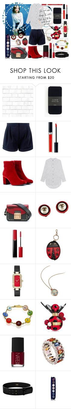 """I do not want it like that"" by juinn ❤ liked on Polyvore featuring Tempaper, J.Crew, La Perla, Christian Dior, Yves Saint Laurent, Splendid, Furla, Chanel, Giorgio Armani and Charlotte Olympia"