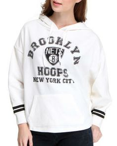 Buy Brooklyn Nets Oversized 3/4 sleeve Hoodie Women's Hoodies from NBA MLB NFL Gear. Find NBA MLB NFL Gear fashions & more at DrJays.com