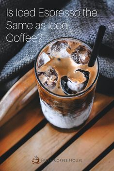 Have you been to your favorite coffee shop recently and noticed a new type of cold coffee you've never tried before? I had a chance to try an iced espresso instead of an iced coffee for the first time and want to tell you about the differences. #coffee #espresso Cold Coffee Drinks, Fresh Coffee, Hot Coffee, Iced Coffee, Coffee Cream, Coffee Type, Black Coffee, Famous Drinks, Natural Coffee