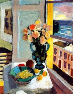 """Henri Matisse, """"Roses devant une fenêtre"""", 1925."""