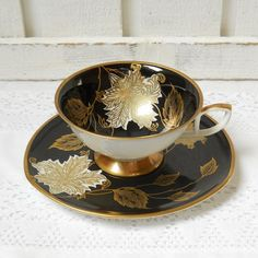 German Antique Tea Cups Saucers | vintage tea cup and saucer german porcelain tea cups teacup german ... #teacup