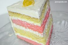 Raspberry Lemonade Layer Cake by JavaCupcake.com