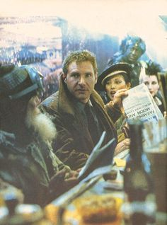 Harrison Ford as Rick Deckard.