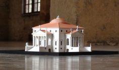 LA ROTONDA by Andrea Palladio, scale model 1:200 -  model price: 445 $ + shipping .  plexiglass cover 60 euro .  info & shopping : hist.arch.models@gmail.com
