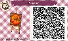 Animal Crossing: New Leaf & HHD QR Code Paths Pumpkin in garden #1 of 2<--