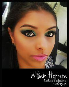 Para las mujeres con ojos castaño claro, verdes y azules les aplico tonos vivos como el verde que le da profundidad a la mirada, amplitud a los ojos y aclara más sus ojos dándole un toque muy sensual y femenino. Asesórate conmigo 3108019196 ¡Un abrazo de tu amigo y estilista profesional William Herrera!