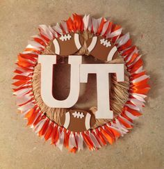 Tennessee Volunteers..$40..can make for any team...leave comment if interested. Tennessee Football, University Of Tennessee, Tn Vols, Crazy Quotes, Tennessee Volunteers, New Crafts, Craft Business, Crochet Crafts, Good Old