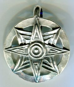 Goddess Symbols - Star of Ishtar. A symbol of the Mesopotamian Goddess Ishtar (Anath, Astarte, Inanna).  Originally the deified evening star, Astarte was connected with fertility, sexuality, and war. The eight points represent the movements of the planet Venus. Source: dragonscale.com
