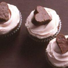 Brownie heart cupcakes