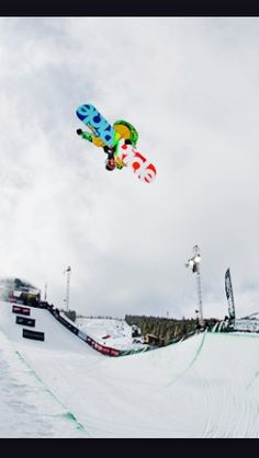 Winter Olympic snowboarding