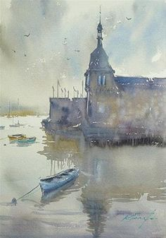 """Bretagne - Enchanted Land, French Landscape Painting"" - Original Fine Art for Sale - © Keiko Tanabe"