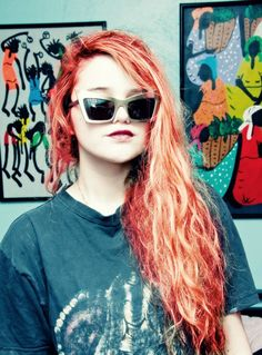 Try a mixture of Manic Panic's Electric Lava and Electric Tiger Lily to do your hair like Sky Ferriera's here.