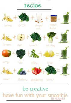 green smoothies options