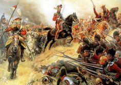 Charge of General Colbert and the Dutch Red Lancers at Waterloo- by Alphonse Lalauze