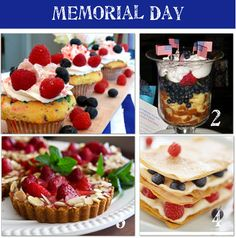 Yummy and patriotic Memorial day and fourth of July recipes