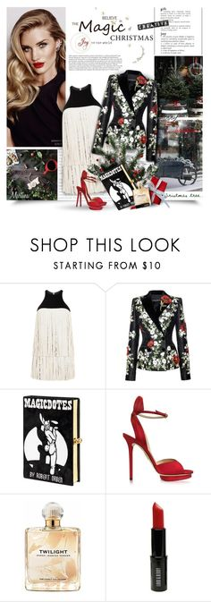 """Oh,Christmas Tree"" by thewondersoffashion ❤ liked on Polyvore featuring Model Co, Giambattista Valli, Dolce&Gabbana, Olympia Le-Tan, Charlotte Olympia, Sarah Jessica Parker, Lord & Berry and Ryan Storer"