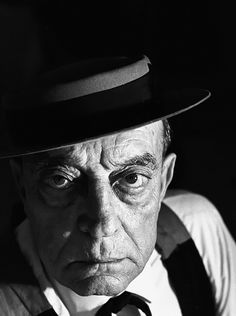 Buster Keaton (1895-1966), 1964 // photo by Sid Avery