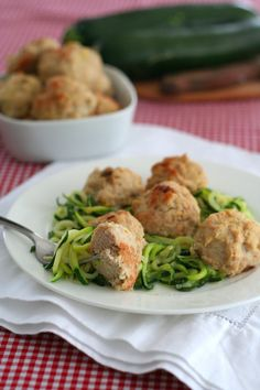 Roasted Garlic Chicken Meatballs - use regular flour  Calories - 206 Fat - 10, Carbs - 5 Protein - 24