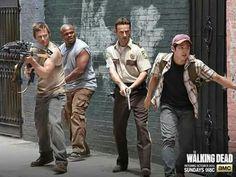 Daryl, T-Dog, Rick, and Glenn