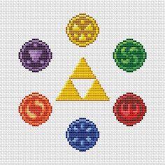 Zelda - Six Medallions - Cross Stitch Pattern   Craftsy