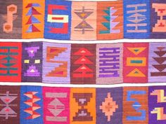 Detail of a artisanal cloth, produced in the town of Tilcara, North West Argentina, near the Bolivia Border.