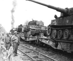 Destroyed German Tiger I tanks from s.Abt In Braine, France Ww2 Pictures, Military Pictures, Tiger Ii, Porsche, Rail Transport, Military Armor, Tiger Tank, Ww2 Tanks, Battle Of Britain