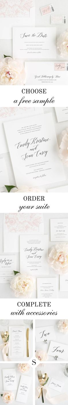 Garden Romance wedding invitations are perfect for any outdoor wedding. Request your free sample today.