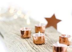 DIY Weihnachtsgeschenk: Selbstgemachte Kupferkerzen!