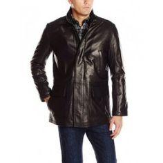Stetson Mens Brown Smooth Leather Jacket Blazer Western Button ...