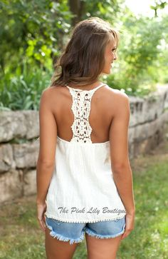 The Pink Lily Boutique - In My Favor Cream Tank, $28.00 (http://thepinklilyboutique.com/in-my-favor-cream-tank/)