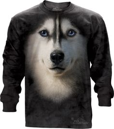 The Mountain - Siberian Face Long Sleeve Tee, $30.00 (http://shop.themountain.me/siberian-face-long-sleeve-tee/)
