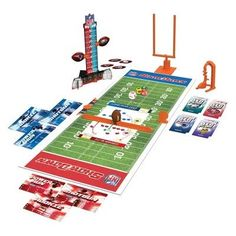 Two players go against each other on the gridiron as their favorite NFL teams, as they select a card, try not to get stopped by the defense, and move down the field to score. 32 Nfl Teams, Nfl Football Games, Football Fans, Buffalo Games, American Girl Toys, Puzzles For Kids, National Football League, Are You The One