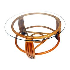 Five Strand Rattan Coffee Table with Glass Top $1195