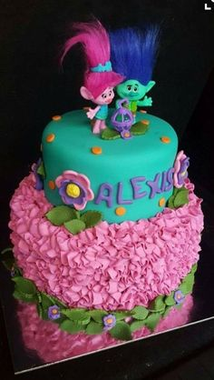 Trolls birthday party ideas for you to try this year! The classic Trolls stole the limelight among the modern cartoon characters who became famous these 2000 onward. It was when the film Trolls was released last November 2016 whose voices of… Trolls Birthday Party, Troll Party, 6th Birthday Parties, Baby Birthday, Birthday Ideas, Birthday Cake, Cupcakes, Cupcake Cakes, Bday Girl