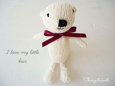 Osito tejido para bebé  Knitted little bear for babies