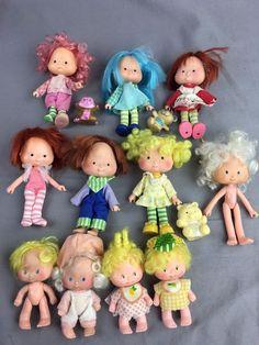 Vintage Strawberry Shortcake Lot 11 Dolls 3 Pets 1980's Kenner #StrawberryShortcake