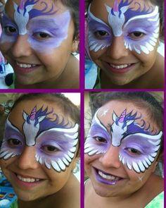Step-by-Step Pegasus Face Paint