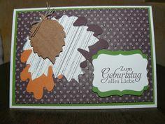Kreativreport: Herbstliche Geburtstagskarte