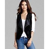 I need this in my life.  C&C California Vest - Reversible Faux Fur Moto