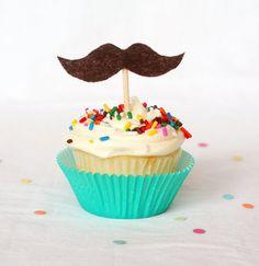 Mustache on a cupcake